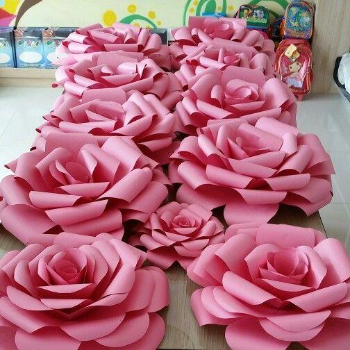Panorama de rosas gigantes