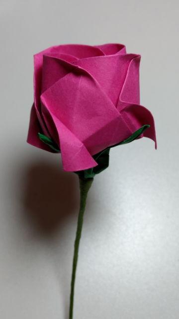 Origami de rosa