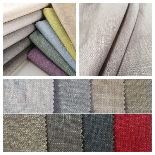 Tecidos coloridos de linho