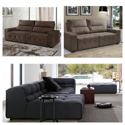 Sofá confortável