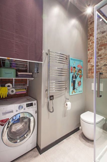 banheiro com lavanderia
