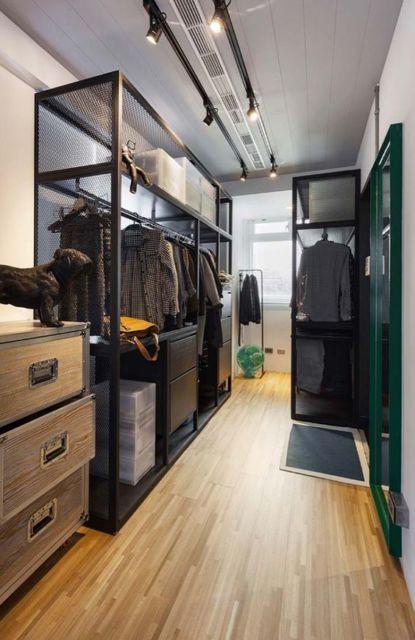 closet preto moderno