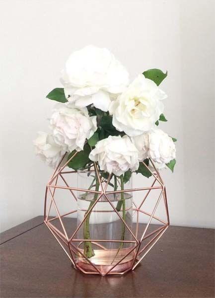 decoração rosé gold