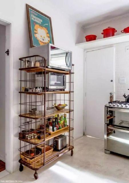 cozinha com estante