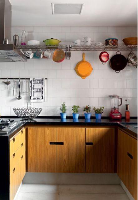 cozinha com prateleira
