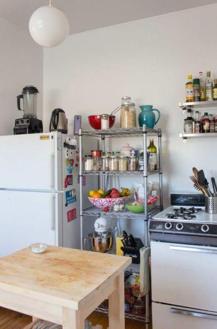 estante de ferro cozinha