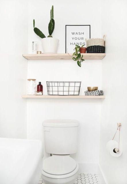lavabo simples  e decorado