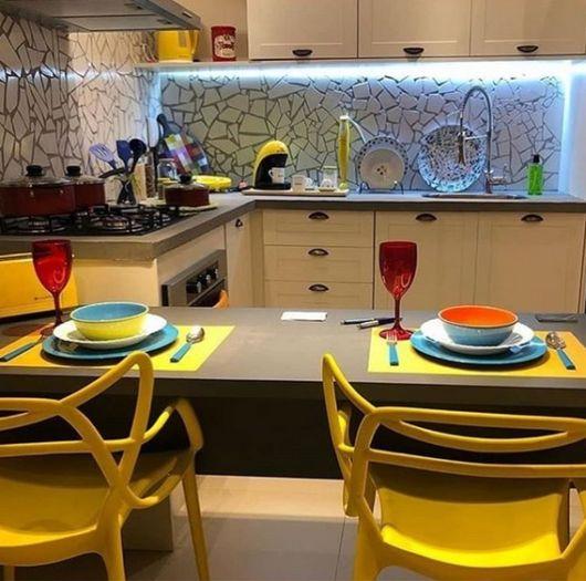 cozinha com mosaico