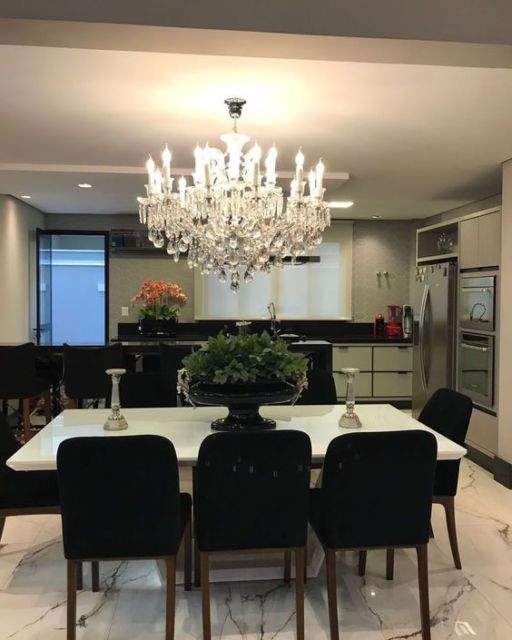cozinha integrada com sala de jantar