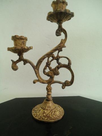 castiçal de bronze