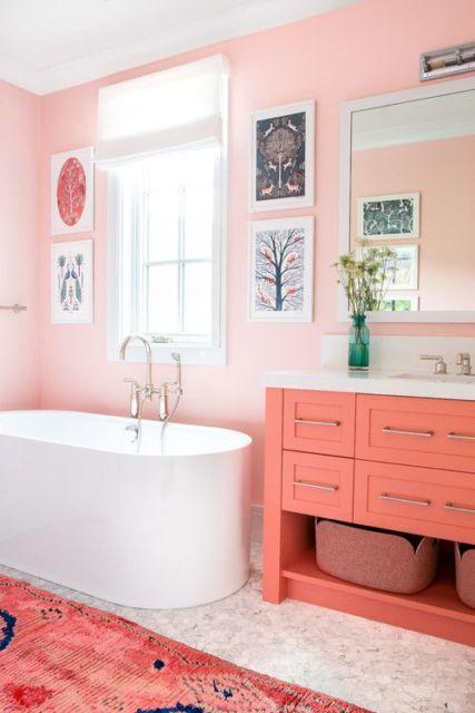 Banheiro salmão