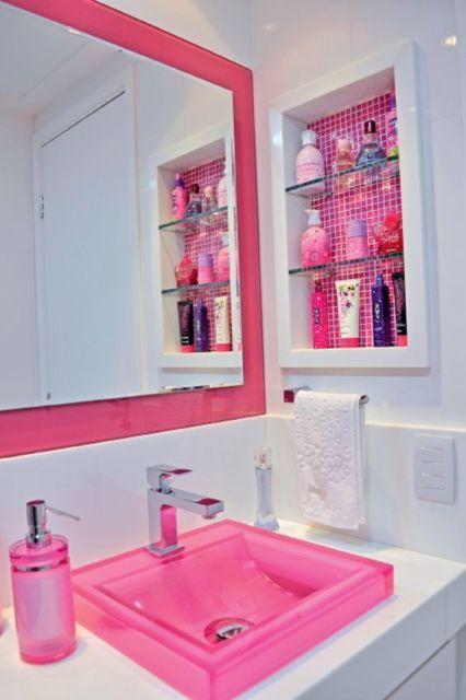 banheiro pink