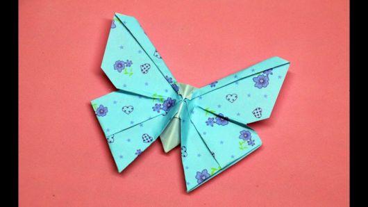 dobradura com papel decorado