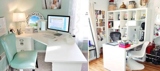 Modelo de escritório feminino