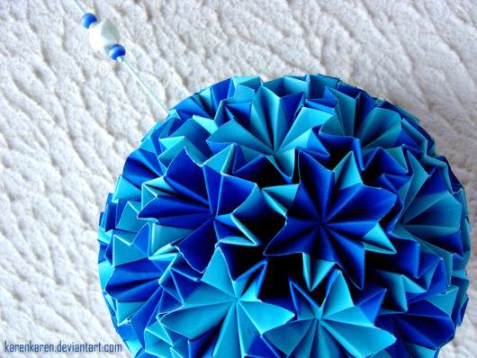 origami azul