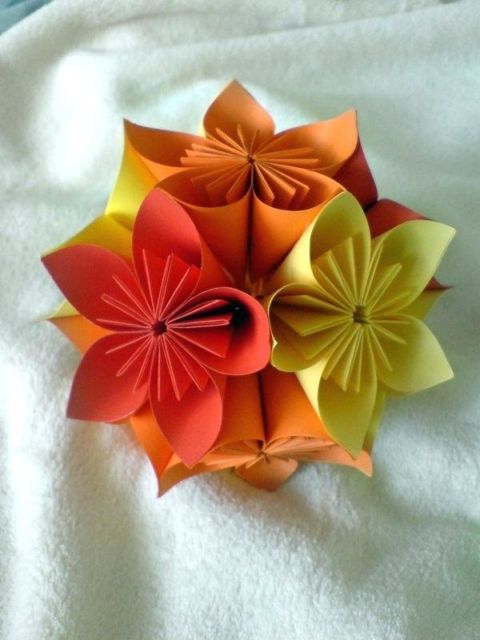 kusudama de flor de sakura