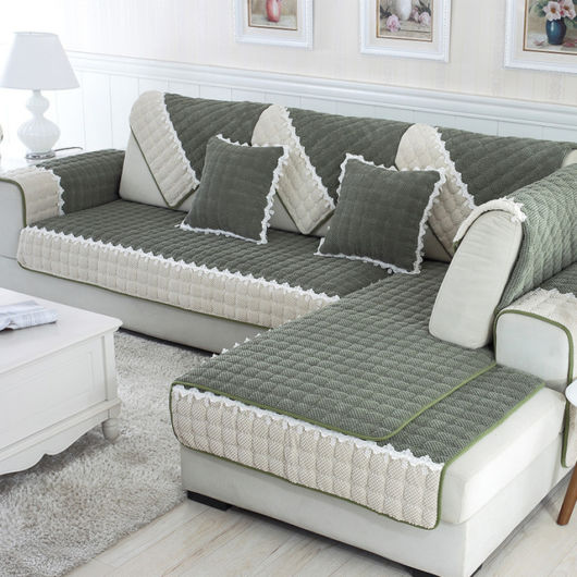 Manta para sofá cinza.