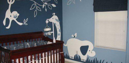 Papel de parede para quarto de bebê masculino