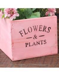 Pátina em MDF: caixa de flores rosa