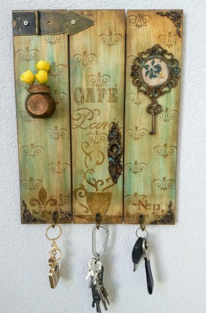 Pátina em MDF: porta chaves