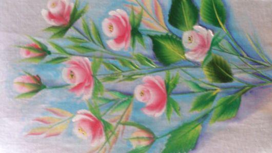 Pintura em tecido: rosas