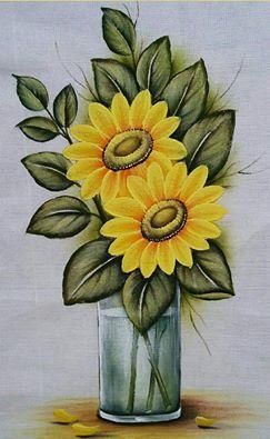 Pintura em tecido: girassol