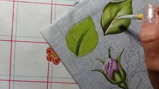 Pintura em tecido: folha