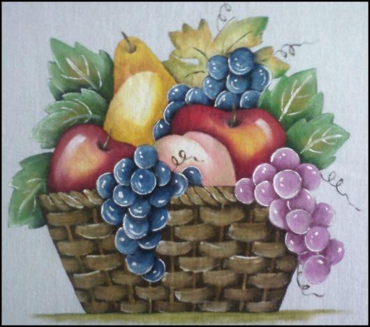 Pintura em tecido: frutas