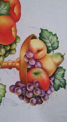 Pintura em tecido: fruteira