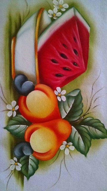 Pintura em tecido: melancia