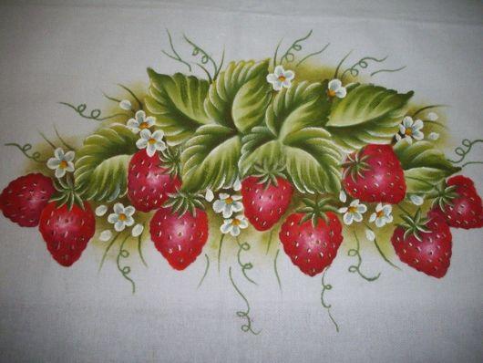 Pintura em tecido: morangos