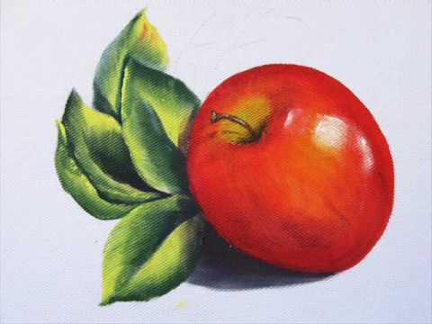 Pintura em tecido: maçã