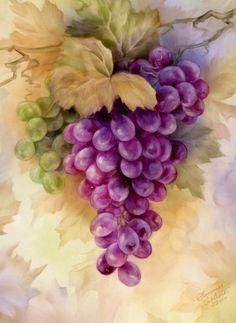Pintura em tecido: uva