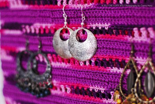 porta joias de crochê