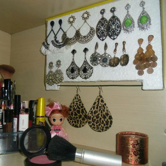 porta-joias de isopor
