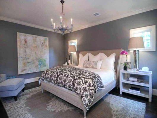 quarto de feminino com decoração cinza