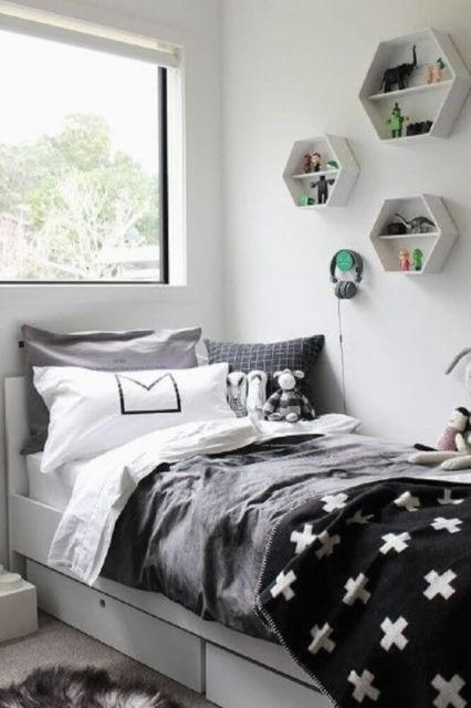 quarto preto e branco tumblr