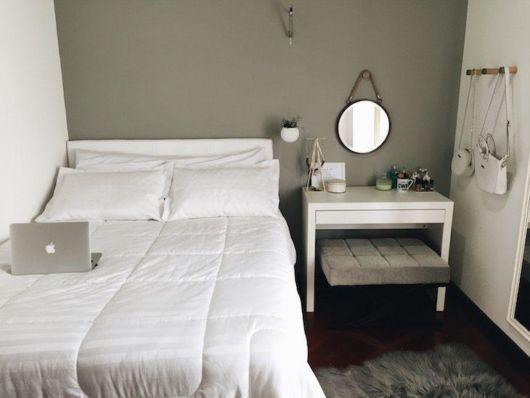 quarto cinza com estilo tumblr
