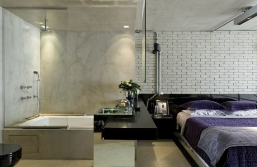 quarto com banheira