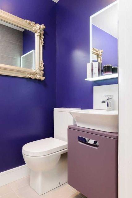 lavabo moderno roxo