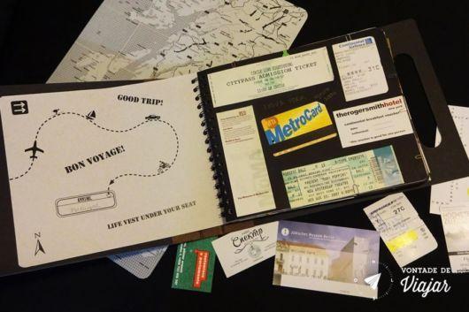 Scrapbook de viagem