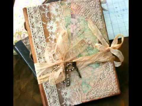 Scrapbook vintage com laço