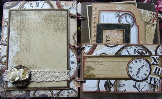 Scrapbook vintage com renda