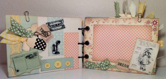 Scrapbook vintage com botões