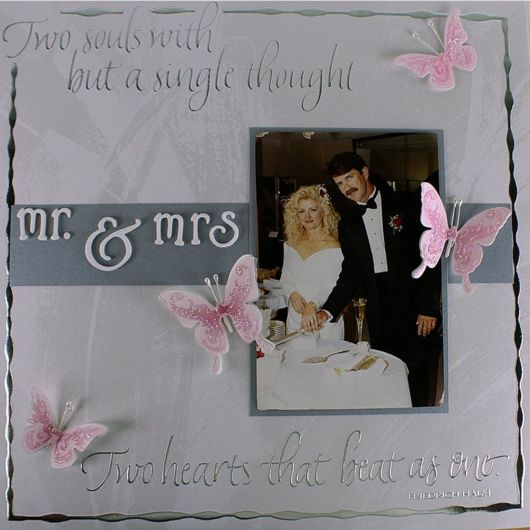 Scrapbook para casamento com borboletas