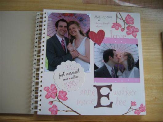 Scrapbook para casamento com flores