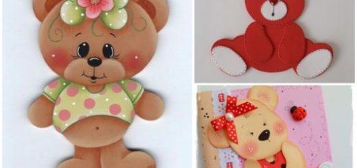 ursinhos decorativos de EVA