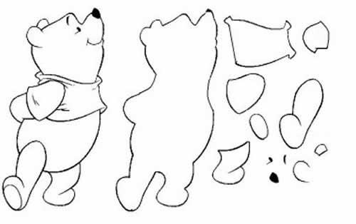 Molde de urso de eva