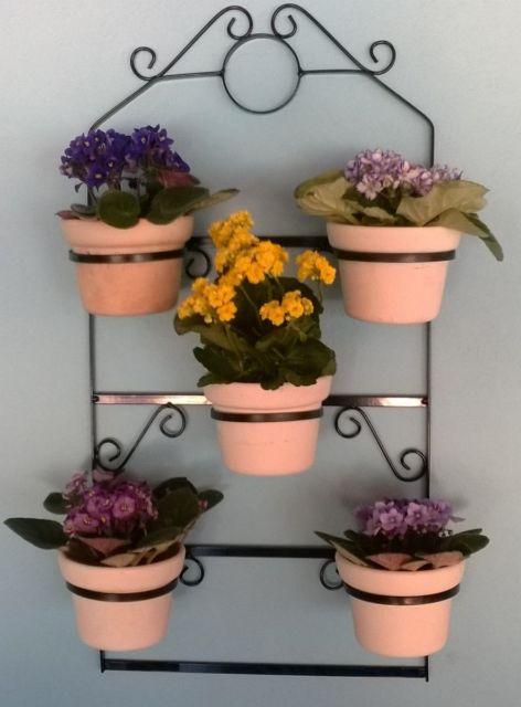 jardim vertical com flores