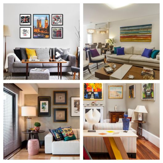 Sala de TV decorada – 90 ideias lindíssimas, confortáveis e criativas!